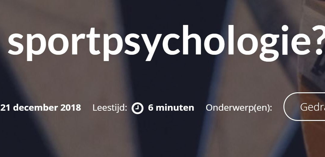 Wat is sportpsychologie?